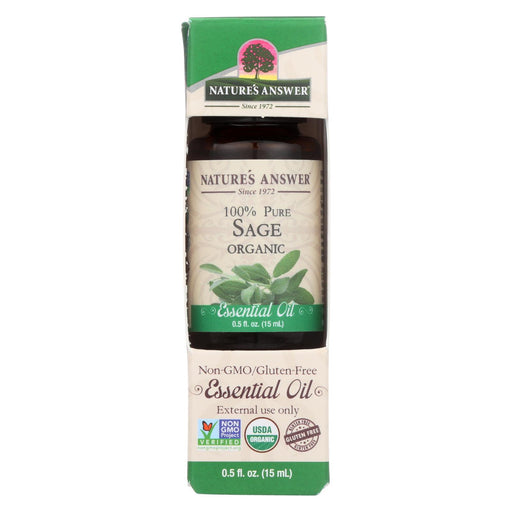 Nature'S Answer - Organic Essential Oil - Sage - 0.5 Oz.-Eco-Friendly Home & Grocery-Nature's Answer-EpicWorldStore.com