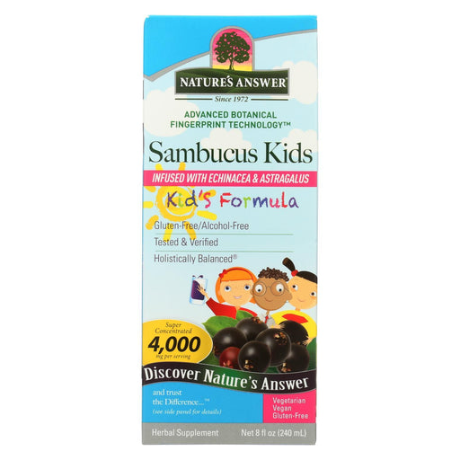 Nature'S Answer - Sambucus - Kids Formula - Original Flavor - 8 Oz-Eco-Friendly Home & Grocery-Nature's Answer-EpicWorldStore.com