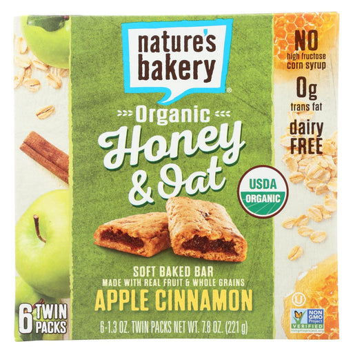 Nature'S Bakery Organic Honey And Oat Bar - Apple Cinnamon - Case Of 6 - Pack Of 6 - 1.3 Oz.-Eco-Friendly Home & Grocery-Nature's Bakery-EpicWorldStore.com