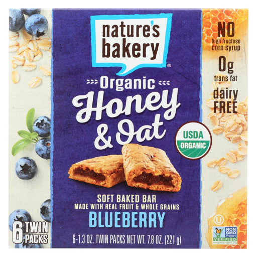 Nature'S Bakery Organic Honey And Oat Bar - Blueberry - Case Of 6 - Pack Of 6 - 1.3 Oz.-Eco-Friendly Home & Grocery-Nature's Bakery-EpicWorldStore.com