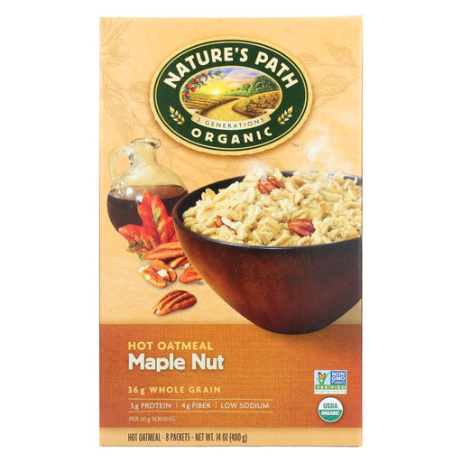 Nature'S Path Hot Oatmeal - Maple Nut - Case Of 6 - 14 Oz.-Eco-Friendly Home & Grocery-Nature's Path-EpicWorldStore.com