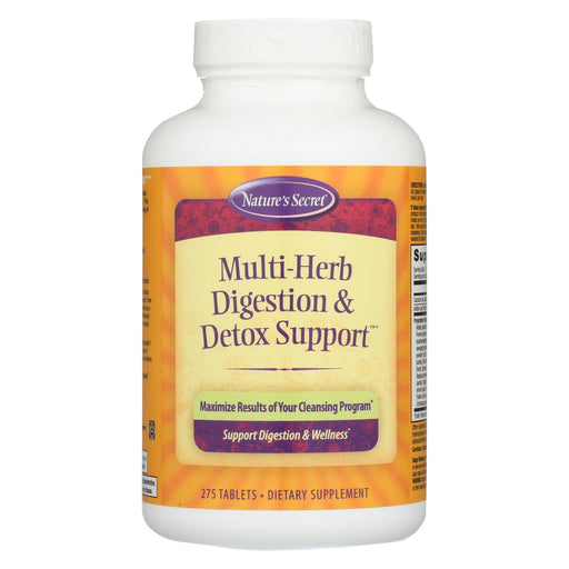 Nature'S Secret Multi-Herb Digestion And Detox Support - 275 Tablets-Eco-Friendly Home & Grocery-Nature's Secret-EpicWorldStore.com
