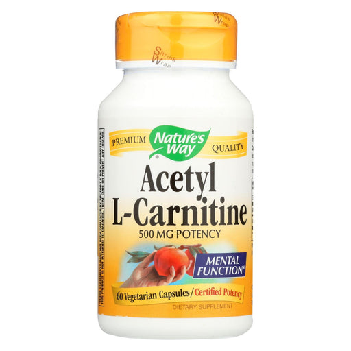 Nature'S Way - Acetyl L-Carnitine - 500 Mg - 60 Vegetarian Capsules-Eco-Friendly Home & Grocery-Nature's Way-EpicWorldStore.com