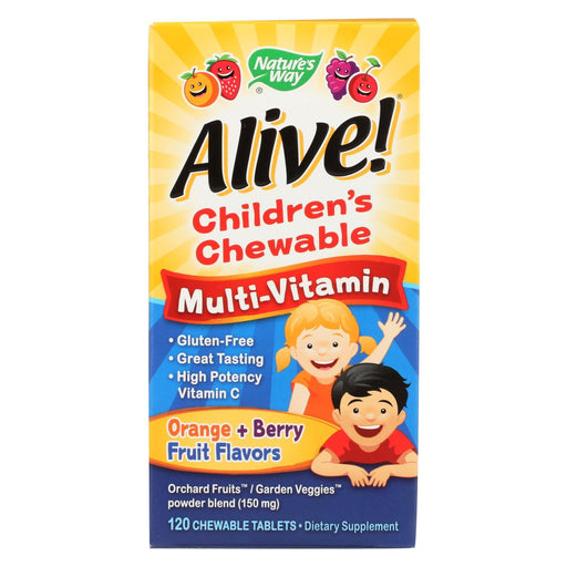 Nature'S Way - Alive! Childrens Chewable Multi-Vitamin - Orange And Berry - 120 Chewable Tablets-Eco-Friendly Home & Grocery-Nature's Way-EpicWorldStore.com