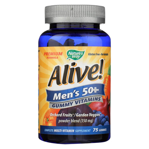 Nature'S Way - Alive! Mens Multi-Vitamin Gummies - 50 Plus - 75 Gummies-Eco-Friendly Home & Grocery-Nature's Way-EpicWorldStore.com