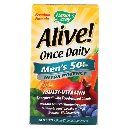 Nature'S Way - Alive! Once Daily Mens Multi-Vitamin - 50 Plus - 60 Tablets-Eco-Friendly Home & Grocery-Nature's Way-EpicWorldStore.com