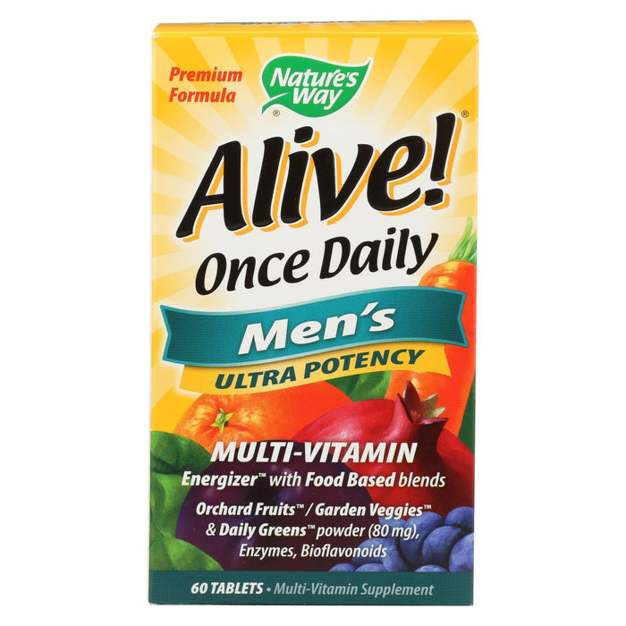 Nature'S Way - Alive! Once Daily Mens Multi-Vitamin - 60 Tablets-Eco-Friendly Home & Grocery-Nature's Way-EpicWorldStore.com