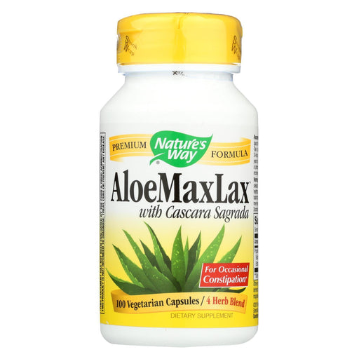 Nature'S Way - Aloemaxlax With Cascara Sagrada - 100 Vegetarian Capsules-Eco-Friendly Home & Grocery-Nature's Way-EpicWorldStore.com