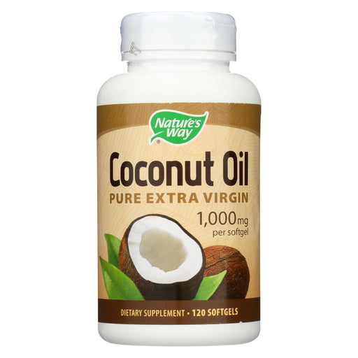 Nature'S Way - Coconut Oil - 1000 Mg - 120 Softgels-Eco-Friendly Home & Grocery-Nature's Way-EpicWorldStore.com