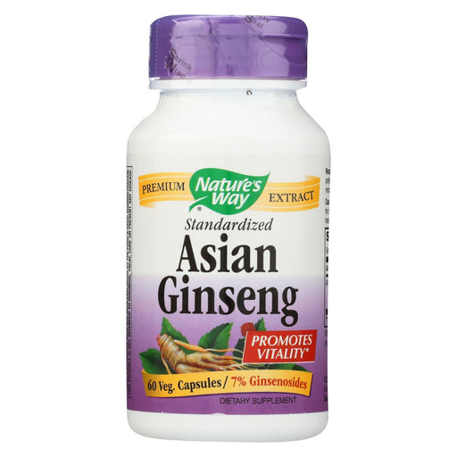 Nature'S Way - Korean Ginseng Root Standardized - 60 Vegetarian Cpasules-Eco-Friendly Home & Grocery-Nature's Way-EpicWorldStore.com