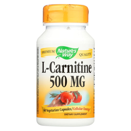 Nature'S Way - L-Carnitine - 500 Mg - 60 Vegetarian Capsules-Eco-Friendly Home & Grocery-Nature's Way-EpicWorldStore.com