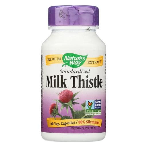 Nature'S Way - Milk Thistle Standardized - 60 Capsules-Eco-Friendly Home & Grocery-Nature's Way-EpicWorldStore.com