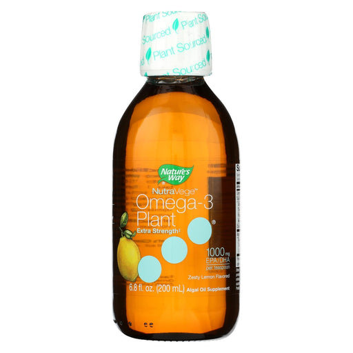 Nature'S Way - Nutravege Omega-3 Plant - Extra Strength - Lemon - 6.8 Fl. Oz.-Eco-Friendly Home & Grocery-Nature's Way-EpicWorldStore.com
