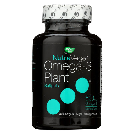 Nature'S Way - Nutravege Omega-3 Plant Softgels - 30 Softgels-Eco-Friendly Home & Grocery-Nature's Way-EpicWorldStore.com