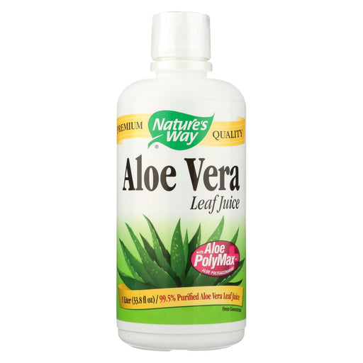 Nature'S Way - Organic Aloe Vera Whole Leaf Juice - 33.8 Fl Oz-Eco-Friendly Home & Grocery-Nature's Way-EpicWorldStore.com