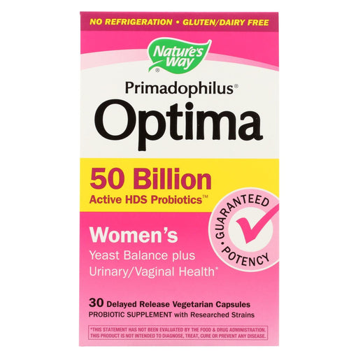 Nature'S Way - Primadophilus Optima - Womens - 50 Billion - 30 Vegetarian Capsules-Eco-Friendly Home & Grocery-Nature's Way-EpicWorldStore.com