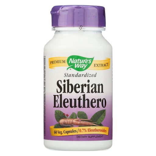 Nature'S Way - Siberian Eleuthero Standardized - 60 Capsules-Eco-Friendly Home & Grocery-Nature's Way-EpicWorldStore.com