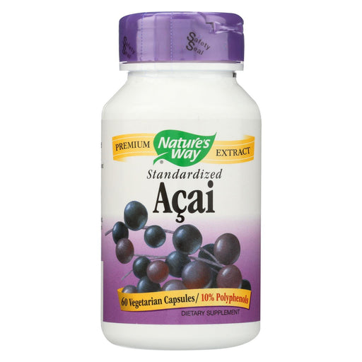Nature'S Way - Standardized Acai - 60 Vegetarian Capsules-Eco-Friendly Home & Grocery-Nature's Way-EpicWorldStore.com
