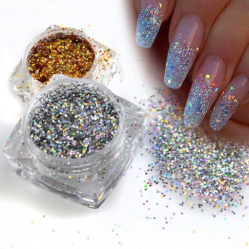 New 1 Bottle Mini Hexagon Shape Laser Shining Nail Art Glitter Diy Sparkly Paillette Tips-Health Care-you are beautiful-Cosmetic 512239-025T Gold-EpicWorldStore.com