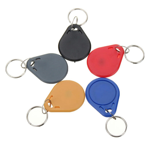 New 100Pcs 13.56Mhz Classic1K Abs Iso Ic Key Fobs Access Control Keychain Rfid Smart Card Tag-Top Camera-EpicWorldStore.com