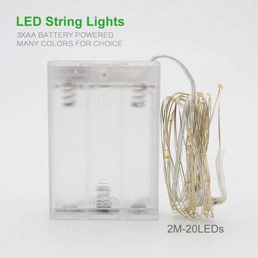 New 2M 5M 10M Copper Silver Wire Led String Lights Waterproof Holiday Lighting For Fairy Christmas-LED Lighting-ANBLUB Official Store-Blue-2M 20LEDs-EpicWorldStore.com
