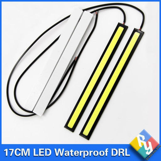 New 2Pcs 17Cm Cob Drl Led Daytime Running Light Auto Lamp External Lights For Universal Car-Car Lights-Yi Rui Co., Ltd. Store-Crystal Blue-EpicWorldStore.com