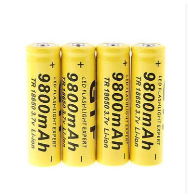 New 3.7V 18650 9800Mah Capacity Li-Ion Rechargeable Battery For Flashlight Torch Yellow Shell-Accessories & Parts-Pinttenen Store-1PCS-EpicWorldStore.com