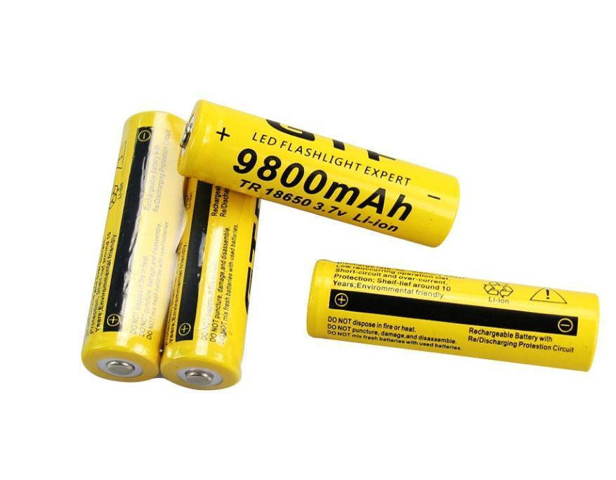 New 3 7V 18650 9800Mah Capacity Li-Ion Rechargeable Battery For Flashlight  Torch Yellow Shell