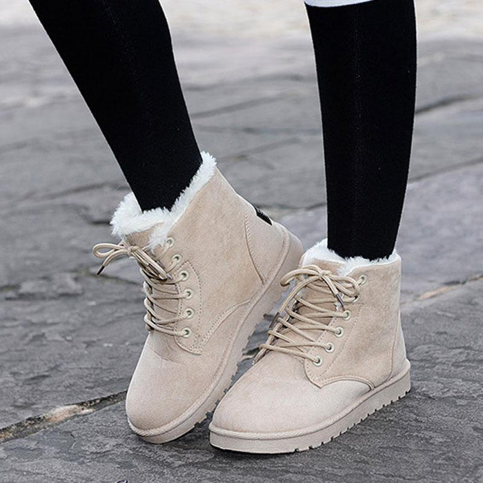 New 8 Colors Ankle Boots For Women Flat Casual Women Snow
