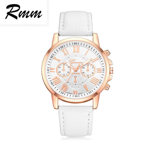 New Best Quality Geneva Womens Watch 12 Color Luxury Pu Leather Watchbands Clock Quartz-Lover's Watches-BQR well-being things-Dark brown-EpicWorldStore.com