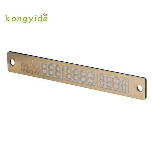 New Car Luminous Temporary Parking Card With Suckers And Phone Number Card Plate Hot Styling-Interior Accessories-Dristable AOTUPART Store-Gold-EpicWorldStore.com