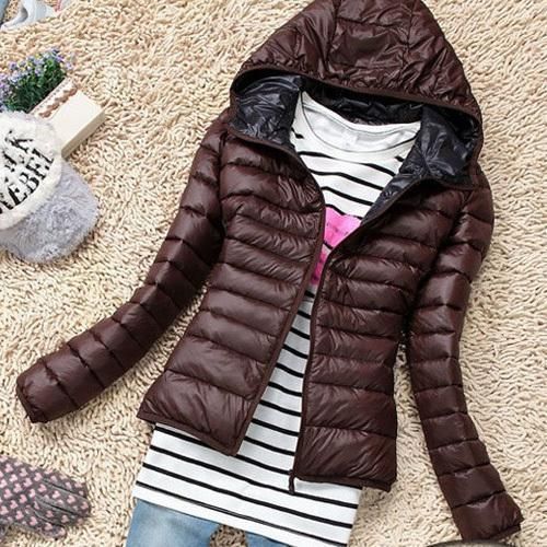 New Chaquetas Mujer New Women Jackets Hooded Candy Color Casaco Feminino-Jackets & Coats-Shuyun Store-Brown-XS-EpicWorldStore.com