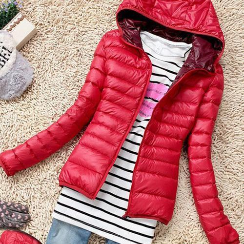 New Chaquetas Mujer New Women Jackets Hooded Candy Color Casaco Feminino-Jackets & Coats-Shuyun Store-Red-XS-EpicWorldStore.com