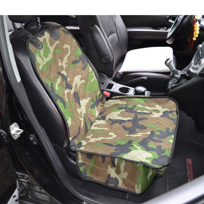 New Cheap Universal Camouflage Car Front Single Seat Cover For Dog Pets Waterproof Bench