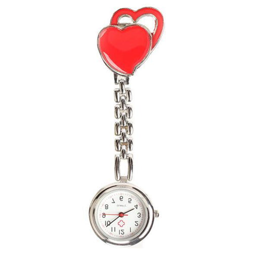 New Chest Pocket Watch Doctor Nurse Watch Warm Sweet Heart Quartz Fob Brooch Pocket Watch With-Pocket & Fob Watches-Shop2882035 Store-Blue-EpicWorldStore.com