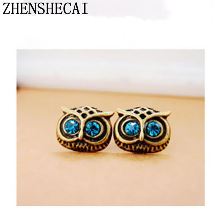 859eb0248 New Classic Owl Animal Brincos Jewelry Cute Stud Earrings For Women Girls  -Special Discount-