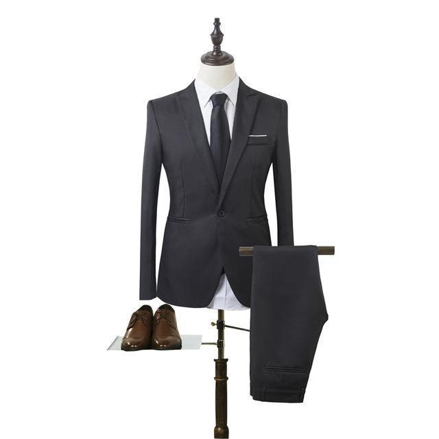 1a137d5c1c New Designs Coat And Pant Suit Men Solid Color Wedding Tuxedos For