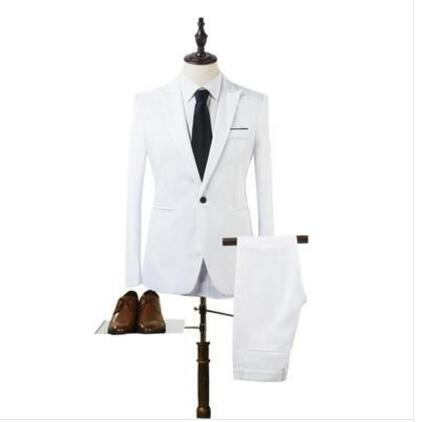 New Designs Coat And Pant Suit Men Solid Color Wedding Tuxedos For