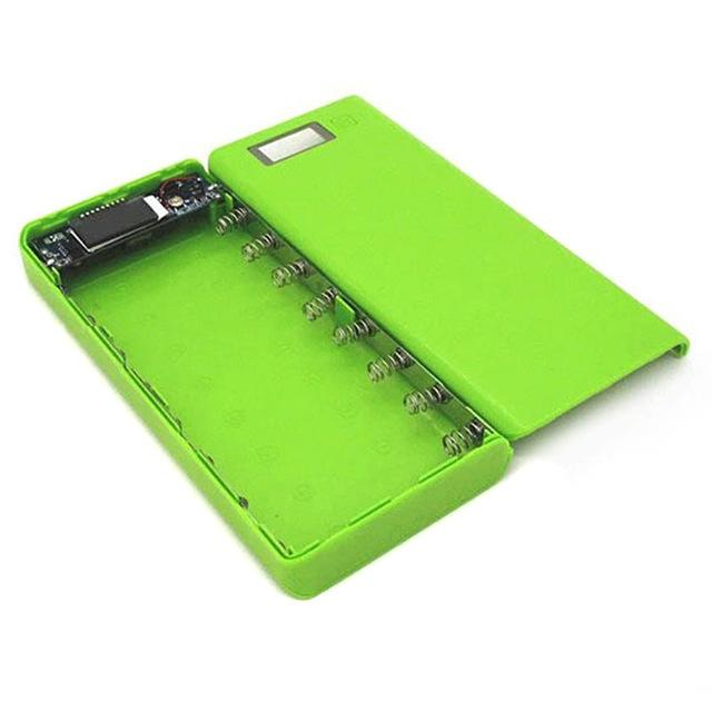 New Diy 18650 Case Power Bank Shell Case Portable Lcd Display External 18650 Battery Box Charger-Accessories & Parts-Ma Shang You Fan Store-Green-EpicWorldStore.com