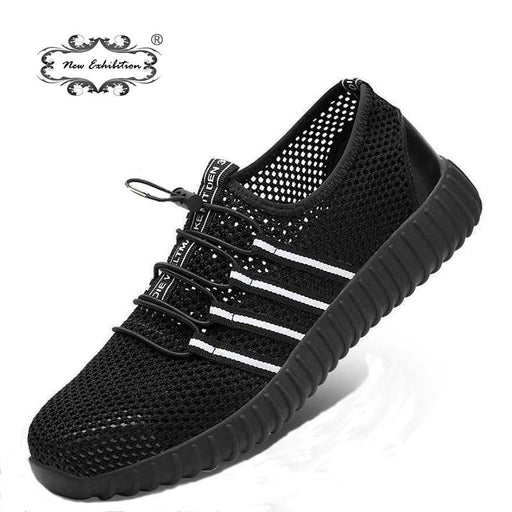 New Exhibition Fashion Safety Shoes Mens Breathable Mesh Anti Smashing Piercing Lightweight Steel-Work & Safety Boots-New exhibition Official Store-dense Mesh-5-EpicWorldStore.com