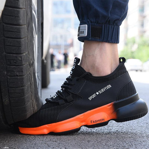New Exhibition Men Work Safety Shoes Fashion Outdoor Steel Toe Cap Anti Smashing Puncture Proof-Work & Safety Boots-New exhibition Official Store-black-172-5.5-EpicWorldStore.com