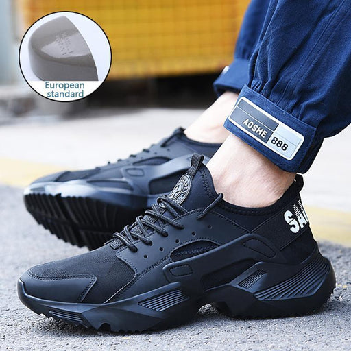 New Exhibition Work Safety Shoes Fashion Sneakers Ultra Light Soft Bottom Men Breathable Anti-Work & Safety Boots-New exhibition Official Store-Mesh-5.5-EpicWorldStore.com