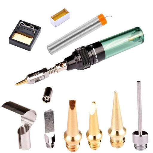 New Good Quality Mt-100 Butane Gas Cordless Torch Soldring Iron Gun Blow Torch Electric Soldering-BOKNOS Store-11 in 1-EpicWorldStore.com