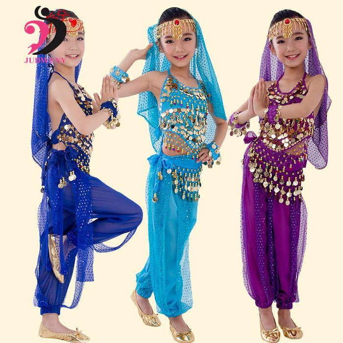 2362ee3e26 New Child Belly Dance Dress for Kids Girls Belly Dance Costume Set Indian  Dance Costumes For Stage Bollywood ...