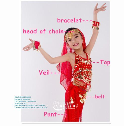 34a85c9e3 New Handmade Children Belly Dance Costume Set Kids Belly Dancing ...