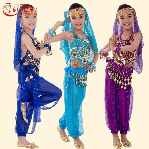 New Handmade Children Belly Dance Costumes For Kids Belly Dancing Girls Bollywood Indian Performance-Stage & Dance Wear-JUDWENY B U N Me Store-Red 2pcs-S-EpicWorldStore.com
