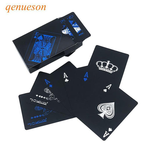 New Hot Smooth Waterproof Black Plastic Playing Cards Black Plastic Texas Hold'Em Poker Cards-Entertainment-Shop3042022 Store-Red-EpicWorldStore.com