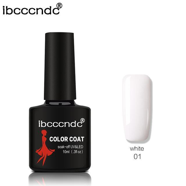 New Ibcccndc 80 Colors 10Ml Uv Led Soak-Off Gel Nail Polish Nail Art Semi Permanent Gel Varnishes-Nails & Tools-ibcccndc Official Store-1-EpicWorldStore.com