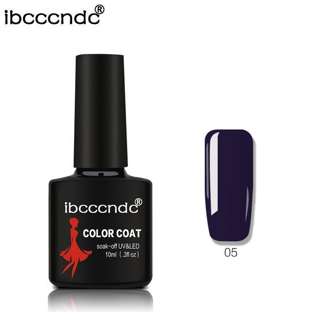 New Ibcccndc 80 Colors 10Ml Uv Led Soak-Off Gel Nail Polish Nail Art Semi Permanent Gel Varnishes-Nails & Tools-ibcccndc Official Store-5-EpicWorldStore.com