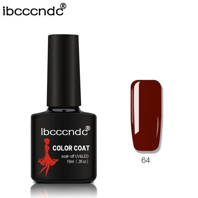 New Ibcccndc 80 Colors 10Ml Uv Led Soak-Off Gel Nail Polish Nail Art Semi Permanent Gel Varnishes-Nails & Tools-ibcccndc Official Store-64-EpicWorldStore.com